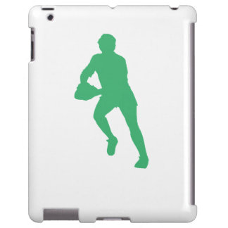 Green Rugby Player Silhouette