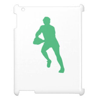Green Rugby Player Silhouette iPad Cases