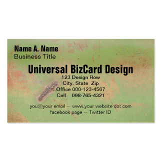 Green, Rust and Weld Metal Grunge Template Business Card