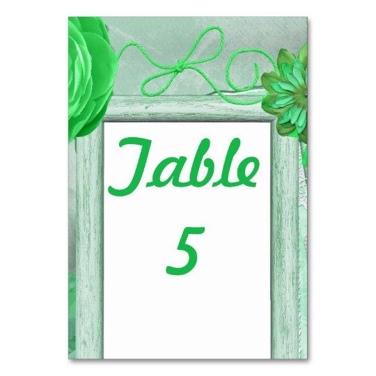 Green Rustic Wedding Card