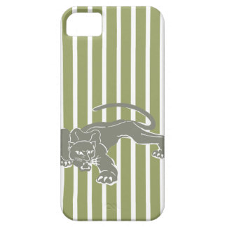 Green Safari Stripe with Leopard Case For The iPhone 5