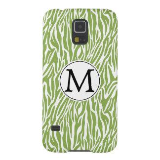 Green Safari Zebra Print Galaxy S5 Covers