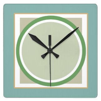 Green Sage and Beige Geometric Wall Clock