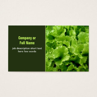 green salad business cards