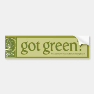 Green Sanctuary Bumper Sticker