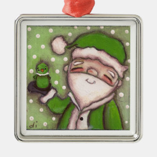 Green Santa - Ornament