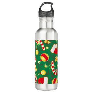 Green - Santa's cap 710 Ml Water Bottle