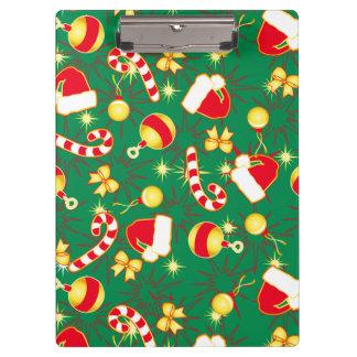 Green - Santa's cap Clipboard
