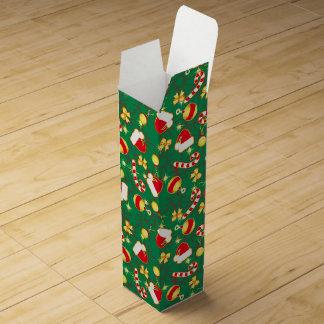 Green - Santa's cap Wine Box