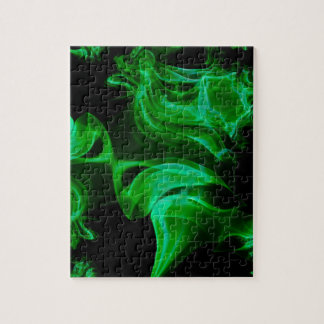 Green Satin fractal Puzzles