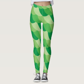 green scales leggings