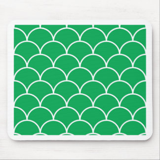 Green scales pattern mouse pad