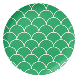 Green scales pattern plate