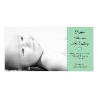 Green Scallop Edge Photo Card