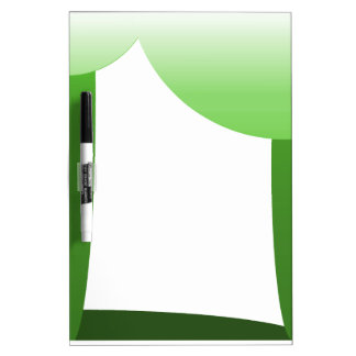 Green scallops dry erase whiteboard
