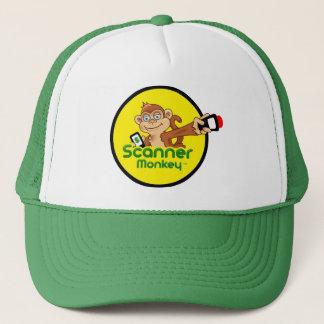 Green Scanner Monkey Trucker Hat