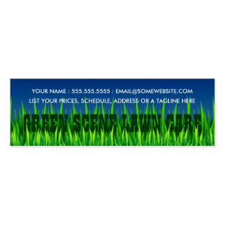 green scene lawn care mini business card