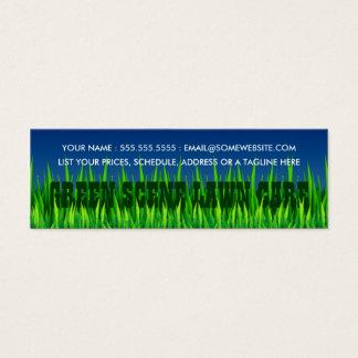green scene lawn care mini business card