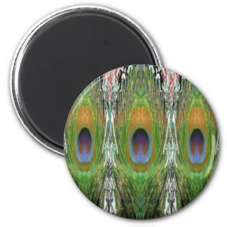GREEN Scene - Peacock Feather Collection Fridge Magnet