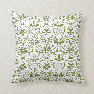Green Scottish Thistle Throw Pillow