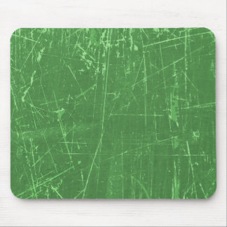 Green Scratched Aged and Worn Texture Mouse Pad