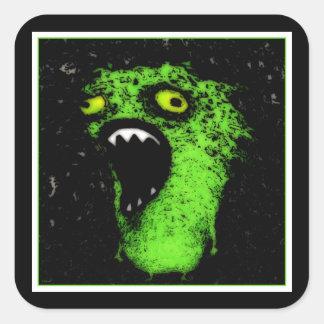 Green Scream Square Sticker