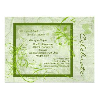 Green Scroll All Occasion Invitation