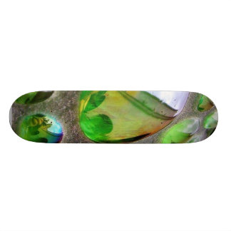Green Scupture Mirrors Glass Skateboard
