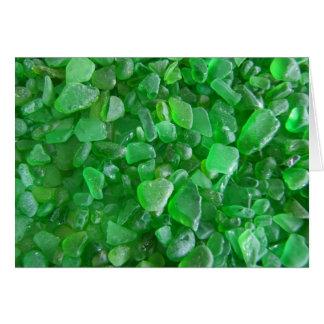 Green Sea Glass Card