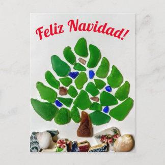 Green Sea Glass Feliz Navidad Tree