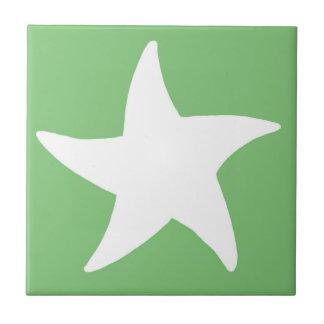 Green Sea Star Tile