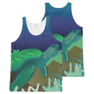 Green Sea Turtle All-Over-Print Tank Top