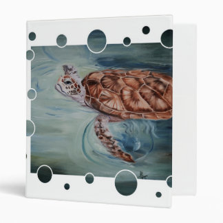 Green Sea Turtle Bubble Binder