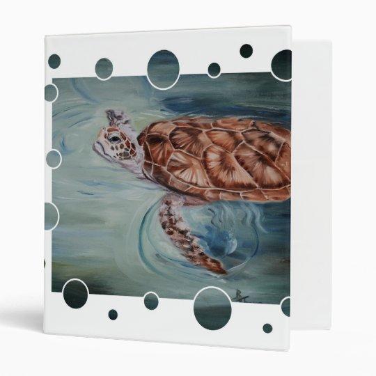 Green Sea Turtle Bubble Binder