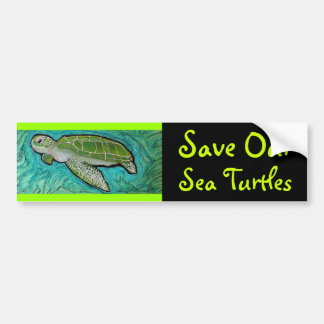 Green Sea Turtle Bumper Sticker