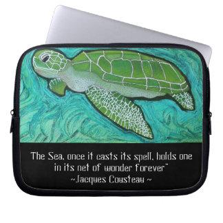 Green Sea Turtle Electronics Sleeve Laptop Sleeve
