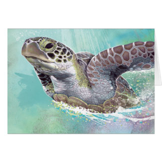 Green Sea Turtle Note Card