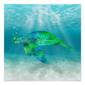 Green Sea Turtle Perfect Poster