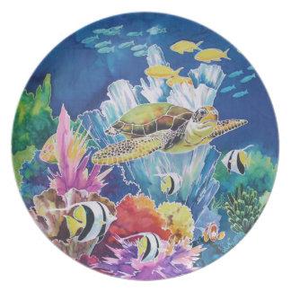 Green sea turtle plate