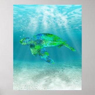 Green Sea Turtle Print