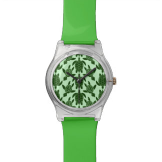 Green Sea Turtle Pretty Animal Pattern Watch