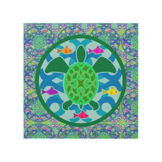 Green Sea Turtle Wood Canvases