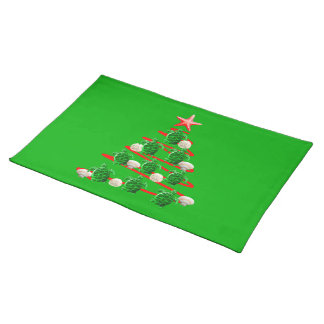 Green Sea Turtles Christmas Tree Placemat