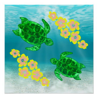 Green Sea Turtles Perfect Poster