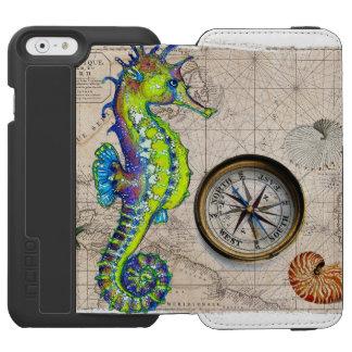 Green Seahorse Compass Incipio Watson™ iPhone 6 Wallet Case