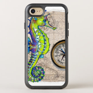Green Seahorse Compass OtterBox Symmetry iPhone 8/7 Case