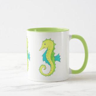 Green Seahorse Sea Horse Beach Ocean Marine Life Mug