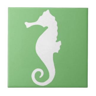 Green Seahorse Tile