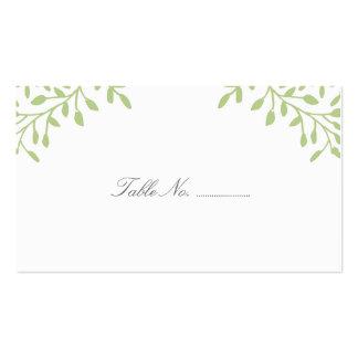 Green Secret Garden Wedding Place Cards Business Card