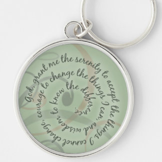 Green Serenity Prayer Keychain